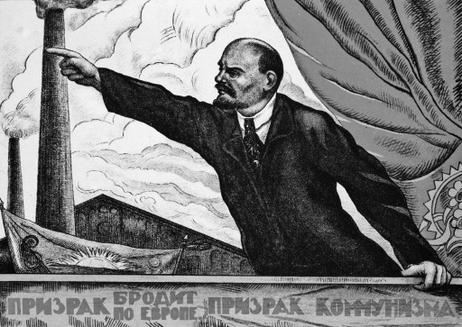 Lenin speaking, The Spectre That Haunts Europe Is Communism, Russian poster, 1917-20 | Location: Institute of Slavonic Studies | Photo Credit: The Art Archive/Marc Charmet / Art Resource, NY