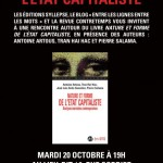 20 octobre : présentation de «Nature et forme de l'Etat capitaliste»