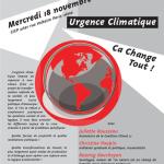 Débat mercredi 18 novembre (19h) : Urgence climatique, «ça change tout»