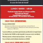 Conférence-débat à l'EHESS, le lundi 7 mars : État d'urgence et convergence des luttes