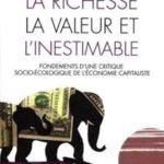 Un livre inestimable. A propos de J-M. Harribey, «La richesse, la valeur et l'inestimable»