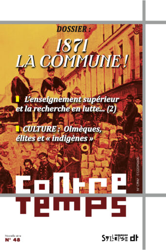 Le numéro 48 de la revue Contretemps est paru