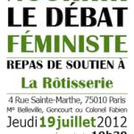 Repas de soutien : nourrir le débat féministe