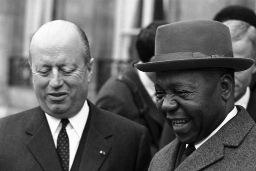 1966. Jacques Foccart et Léon M?ba.